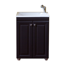 """Style Selections Laundry 24"""" Base Cabinet with Top in Espresso"""
