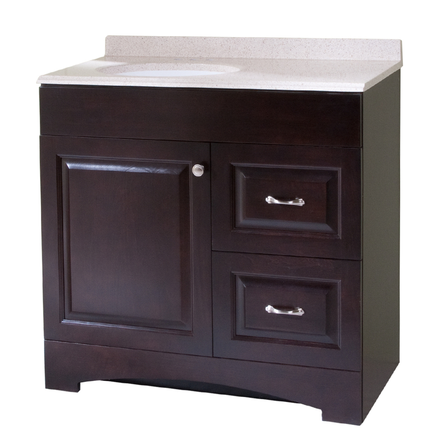 Single Sink Bathroom Vanity with Cultured Marble Top at Lowes.com