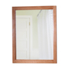 Style Selections 31-3/8-in H x 25-3/4-in W Almeta Nutmeg Rectangular Bathroom Mirror