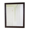 Style Selections 31-3/8-in H x 25-3/4-in W Almeta Chocolate Rectangular Bathroom Mirror