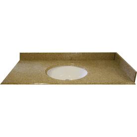 allen + roth Desert Gold Granite Undermount Bathroom Vanity Top (Common: 61-in x 22-in; Actual: 61-in x 22-in)