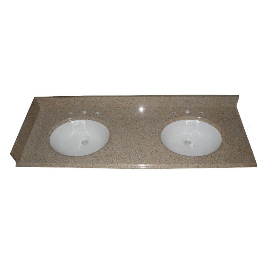 Shop Allen Roth Desert Gold Granite Undermount Double