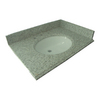 allen + roth Mission White Granite Undermount Single Sink Bathroom Vanity Top (Common: 25-in x 22-in; Actual: 25-in x 22-in)