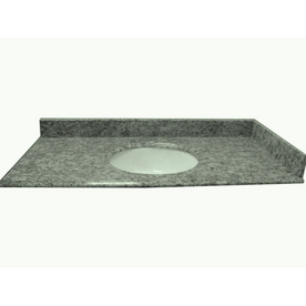 allen + roth Mission White Granite Undermount Bathroom Vanity Top (Common: 49-in x 22-in; Actual: 49-in x 22-in)