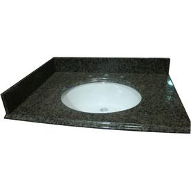 allen + roth Spring Green Granite Undermount Single Sink Bathroom Vanity Top (Common: 31-in x 22-in; Actual: 31-in x 22-in)