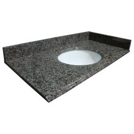 allen + roth Granite Undermount Single Sink Bathroom Vanity Top (Common: 61-in x 22-in; Actual: 61-in x 22-in)