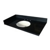 allen + roth Black Absolute Granite Undermount Bathroom Vanity Top (Common: 43-in x 22-in; Actual: 43-in x 22-in)