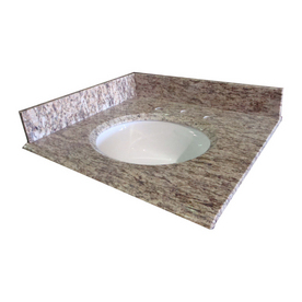 Allenroth Bathroom Vanities on Allen   Roth 25 In W X 22 In D Granite Undermount Single Sink Bathroom