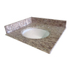 allen + roth Santa Cecilia Granite Undermount Bathroom Vanity Top (Common: 25-in x 22-in; Actual: 25-in x 22-in)
