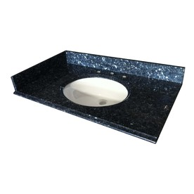 allen + roth Granite Undermount Single Sink Bathroom Vanity Top (Common: 37-in x 22-in; Actual: 37-in x 22-in)