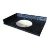 allen + roth Blue Pearl Granite Undermount Bathroom Vanity Top (Common: 43-in x 22-in; Actual: 43-in x 22-in)