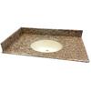 allen + roth Santa Cecilia Granite Undermount Bathroom Vanity Top (Common: 49-in x 22-in; Actual: 49-in x 22-in)