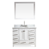 ARIEL Cambridge White Undermount Single Sink Asian Hardwood Bathroom Vanity with Natural Marble Top (Common: 43-in x 22-in; Actual: 43-in x 22-in)