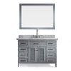 ARIEL Kensington Grey Undermount Single Sink Asian Hardwood Bathroom Vanity with Natural Marble Top (Common: 49-in x 22-in; Actual: 49-in x 22-in)