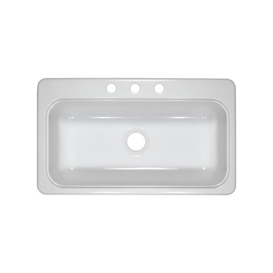 ... Lyons Style SB White Single-Basin Acrylic Kitchen Sink at Lowes.com