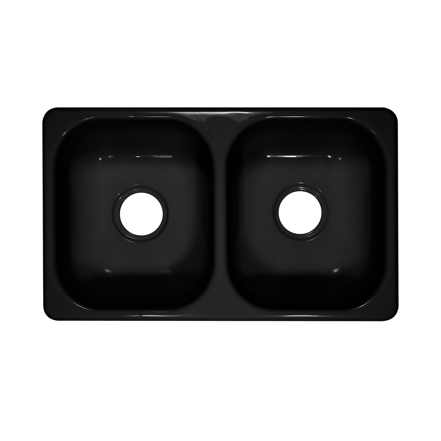Lyons Style W Double-Basin Drop-in or Undermount Acrylic Kitchen Sink ...
