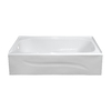 Style Selections 60-in x 30-in White Rectangular Bathtub with Left-Hand Drain