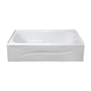 Style Selections 60-in x 30-in White Rectangular Bathtub with Right-Hand Drain