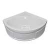Style Selections Acrylic Corner Whirlpool Tub (Common: 48-in x 48-in; Actual: 20-in x 48-in x 48-in)