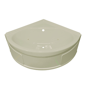 shop style selections biscuit acrylic corner whirlpool tub