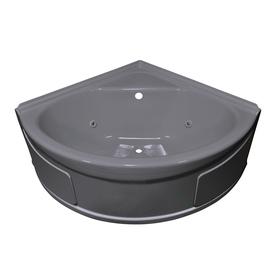 Shop Style Selections Silver Metallic Acrylic Corner Whirlpool Tub Common 4