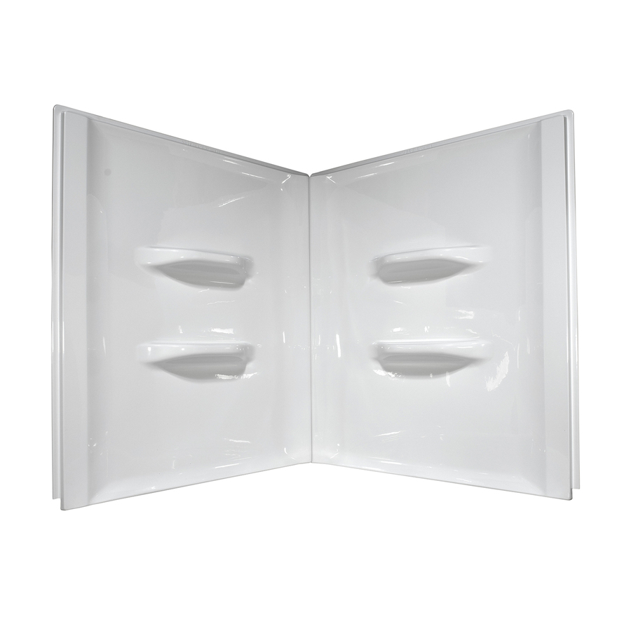 Shop Style Selections White Acrylic Bathtub Wall Surround (Common: 48-in x 48-in; Actual: 52-in ...