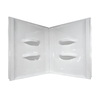Style Selections Acrylic Bathtub Wall Surround (Common: 48-in x 48-in; Actual: 52-in x 48-in x 48-in)