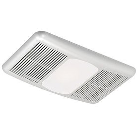 Harbor Breeze 3.0-Sone 80 CFM White Bathroom Fan with Heater and Light
