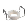 Drive Medical White Elevated Toilet Seat
