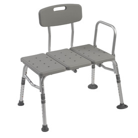 Shop Drive Medical Gray Plastic Freestanding Transfer Bench At