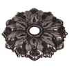 The Hillman Group 4-Count Silver Flower Mirror Rosettes