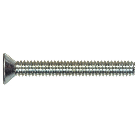 The Hillman Group 25-Count 3-mm-0.5 x 6-mm Flat-Head Zinc-Plated Slotted-Drive Metric Machine Screws