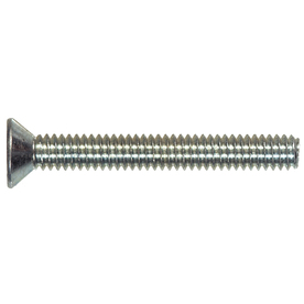 The Hillman Group 100-Count #4 to 40 x 1-in Flat-Head Zinc-Plated Standard (SAE) Machine Screws