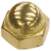 The Hillman Group 100-Count 3/8-in Brass Standard (SAE) Cap Nuts