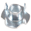 The Hillman Group 100-Count 1/4-in Zinc-Plated Standard (SAE) 4-Prong Tee Nuts