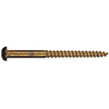 The Hillman Group 100-Count #14 x 1-in Round-Head Brass Slotted-Drive Interior/Exterior Wood Screws