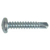 The Hillman Group 100-Count #10 x 1-in Zinc-Plated Self-Drilling Interior/Exterior Sheet Metal Screws