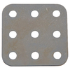 "The Hillman Group 1-1/2"" x .20"" Metal Slotted Square Plate"