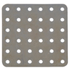 The Hillman Group 3-in x 1/4-in Metal Slotted Square Plate