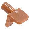 The Hillman Group 15-Pack 1/8-in Tan Angled Rectangular Shelf Pins