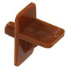 The Hillman Group 15-Pack 0.25-in Brown Square Shelving Hardware