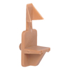 The Hillman Group 6-Pack 0.25-in Tan Angled Rectangular Shape Shelving Hardware