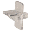 The Hillman Group 15-Pack 1/4-in Clear Angled Rectangular Shelf Pins