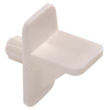 The Hillman Group 15-Pack 1/4-in White Angled Rectangular Shelf Pins