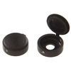 The Hillman Group 1/2-in x 1-in Black Plastic End Cap