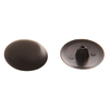 The Hillman Group 1/2-in x 1/8-in Black Plastic End Cap