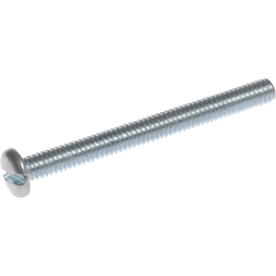 The Hillman Group 20-Count 2.5-mm-0.45 x 8-mm Cheese-Head Zinc-Plated Slotted-Drive Metric Machine Screws