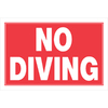 The Hillman Group 8-in x 12-in Diving Sign