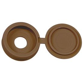 The Hillman Group 1/4-in x 1/4-in Brown Plastic End Cap
