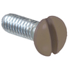 The Hillman Group 2-Pack #6-32 x 1-in Brown Wall Plate Screws
